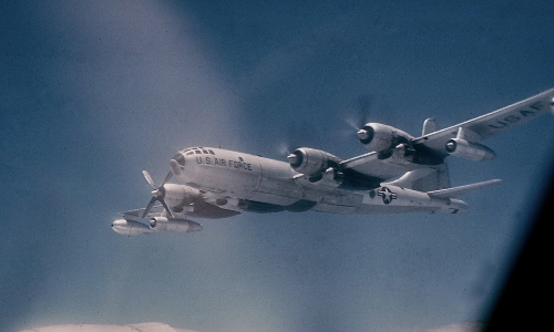 Resting_#4_Engine_over_Wake_Island_1959