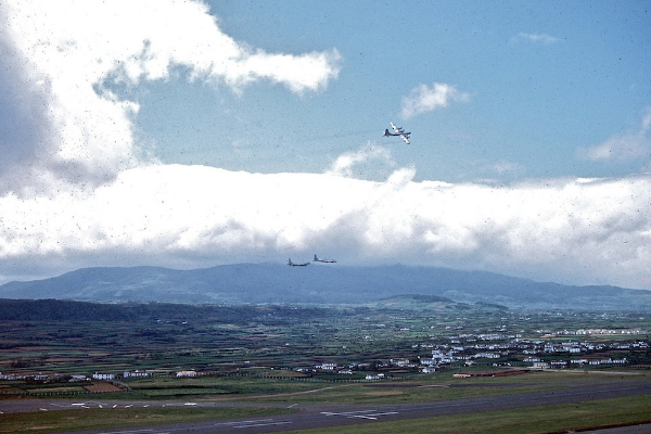 Returning flight at Lajes